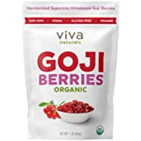 Viva Naturals Premium Himalayan Organic Goji Berries, Noticeably Larger and Juicier, 1lb bag