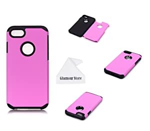 iPhone 7 Case, 2 in 1 Soft Shockproof Armor Dual Layer With PC Hard Back Cover Plastic Case Cover For Apple iPhone 7 4.7 inch With A Free Cleaning Cloth As a Gift (Purple)