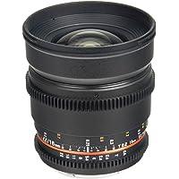 Bower SLY16VDN Wide Angle High-Speed 16mm T/2.2 Cine Lens for Nikon Video DSLRs (Black)