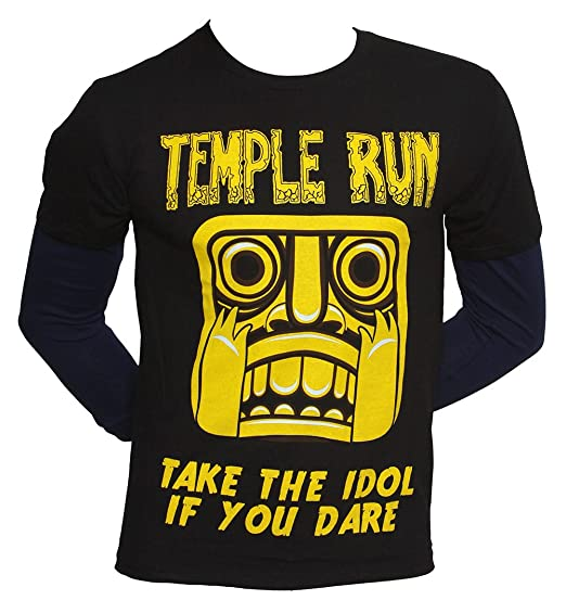 "Temple Run ""Take the Idol if Your Dare"" Boy's Long-Sleeve T-Shirt - Large"