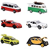 Dickie Majorette Mini Old/New Vehicles, Set of 2212052011Vintage 2Pieces Set with Classic and Contemporary Model–Cast in 3Different Designs, 7, 5cm