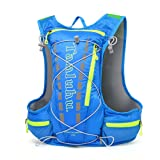 Breathable Vest Bag, NACATIN Water-Resistant and Lightweight Hydration Vest Backpack 15L Capacity, Adjustable Shoulder Straps for Running Cycling Hiking Climbing (BLUE)