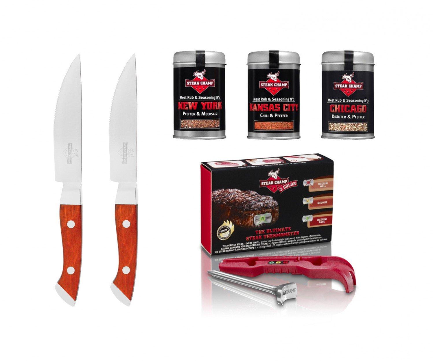 SteakChamp Gourmet Geschenk Set – 3-color günstig