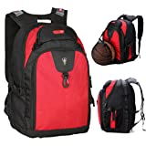 [Update Version] Victoriatourist V6020 Expandable Laptop Backpack with Ipad/surface Sleeve Fits Macbook Pro/14-inch Laptops, Red
