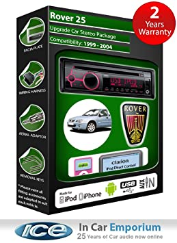Rover 25 CD-AUTORADIO Clarion USB radio play kit iPod/iPhone/Android