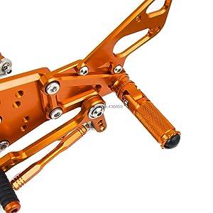 D-Modernlife-Rear Adjustable Motorcycle Foot Pegs Left Right Passenger Footrest Pegs For Ktm Duke 125 200 390 2011 2012 2013 2014 2015 2016