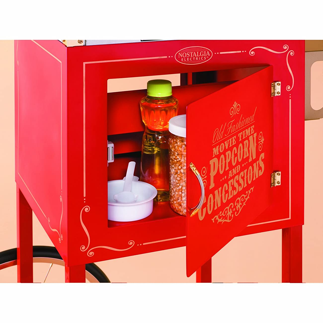 Nostalgia CCP610 59-Inch Tall Vintage Collection 8-Ounce Kettle Popcorn & Concession Cart 2