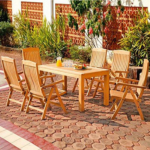 Gärtner Pötschke Sitzgruppe Wimbledon Park, groß (6 Sessel 1 Tisch) online bestellen