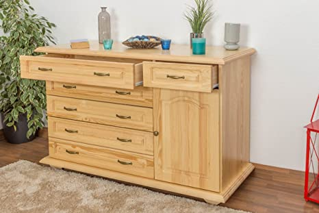 Dresser solid, natural pine wood Pipilo 12 - Dimensions88 x 139 x 54 cm