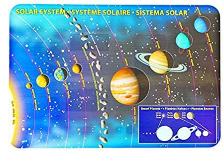 Solar System Posters Solar System Placemat Poster