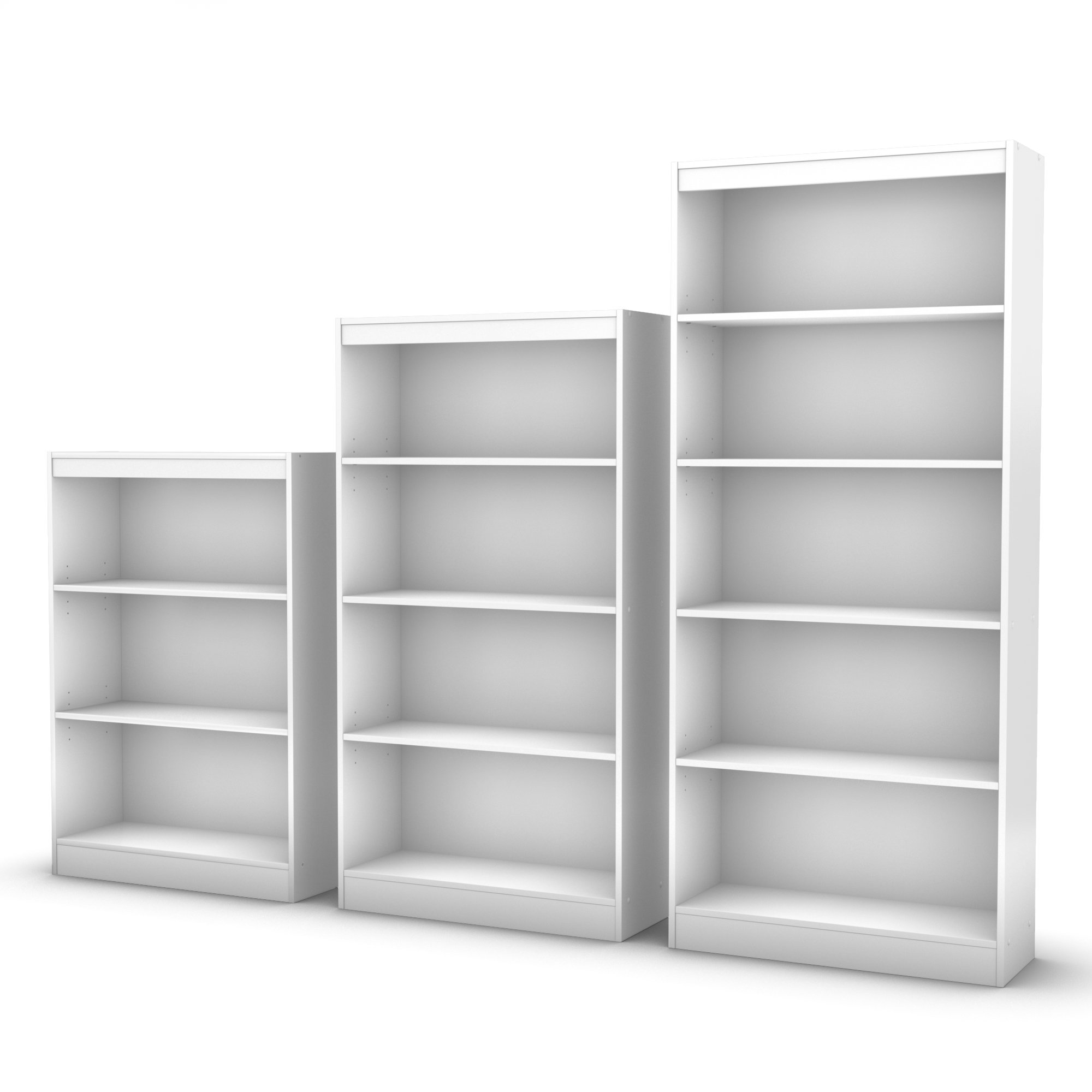 south shore axess collection 4 shelf bookcase pure white. Black Bedroom Furniture Sets. Home Design Ideas