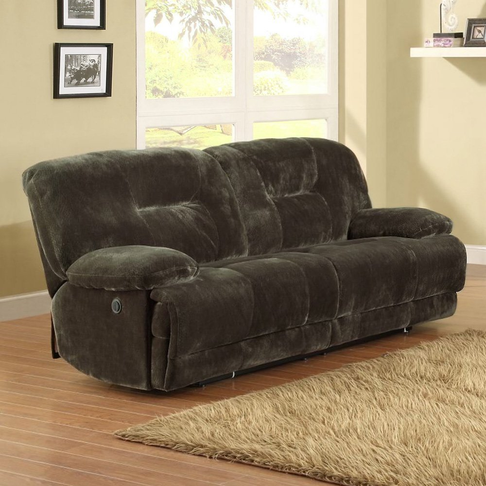 Clifton Dual Power Reclining Sofa - Brown