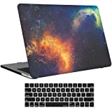 MacBook Pro 13 Case 2018 2017 2016 Release A1989/A1706/A1708, ProCase Hard Case Shell Cover and Keyboard Skin Cover for Apple MacBook Pro 13 Inch with/Without Touch Bar and Touch -Galaxy Fire and Ice (Color: galaxy, Tamaño: Macbook Pro 13 (A1706 / A1708))