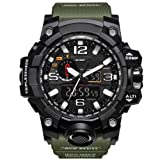 Bounabay Men's Military Digital Sport Watch Water Resistant Outdoor LED Back Light Display,Army Green
