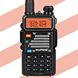 Baofeng X Radioddity UV-5RX3 Tri-Band Radio VHF, 1.25M, Uhf Amateur Handheld ham Two Way Radio Walkie Talkie with Earpiece and Charger (Color: Black)