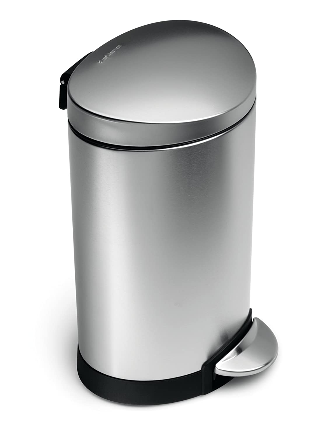 Stainless Steel Kitchen Trash Can Garbage Waste Bin Pedal Lid Step Operated New Ebay