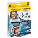 Dial Vision Unisex Glasses by BulbHead, Adjustable Lenses from -6D to +3D Power (Color: Gray)