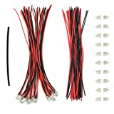 EUDAX 20 Sets Mini Micro Jst 2.0 Ph 2-Pin Connector Plug Male With 150mm Cable Female Connector Heat shrink tube for Li-Po Batteries