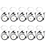 abcGoodefg 3.5mm Receiver/Lishen Only Acoustic Tube Earpiece Headset for Two Way Radios Speaker Mics 10 Pack (Color: 10 PACK)