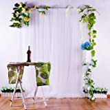 White Tulle Backdrop Curtains for Parties Weddings Baby Shower Background Home Decorations 5x7 Backdrop (Color: not sheer white)