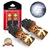 LASFIT 3157 3156 3057 3056 4157 LED Bulbs 6000K Super Bright Use for Back Up Reverse Lights, Daytime Running Lights, Parking Lights, Xenon White (Pack of 2) (Color: White, Tamaño: 3157/3156/3057)