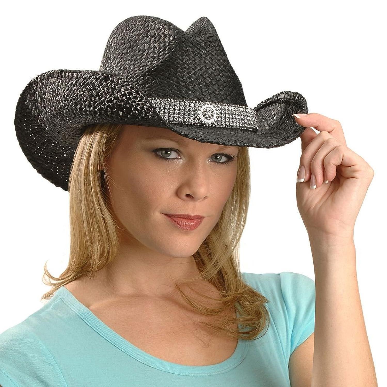 Black Straw Hat Hat Band Raffia Straw