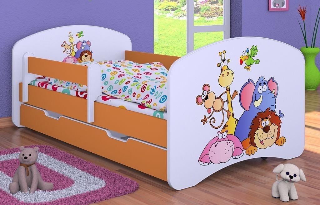 """Kinderbett """" Tiergarten """" mit Matratze und Bettkasten 180/90 cm – NEU"""