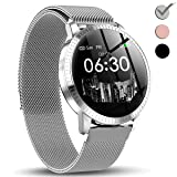 1.3'' IPS Smart Watch for Men Women, 2019 New Upgraded HD Screen 5 Dial with Heart Rate Blood Pressure Monitor Calories Sleep Step Counter Camera Music Control Sport Fitness Tracker Father's Day Gifts (Color: fitness tracker)