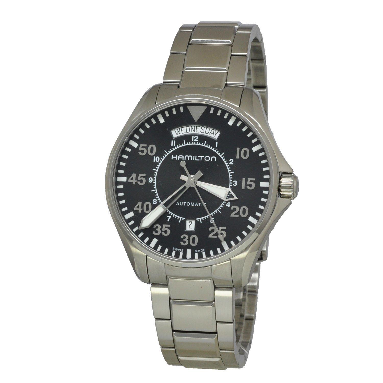 Hamilton Khaki Pilot Day Date Men's watch #H64615135 oom 102 1 oxygen battery applied to drager mustang hamilton newport chenwei