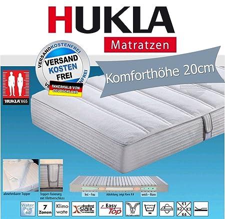 Hukla i night 200 Konfektionsgrößen-Matratze mit X-Static-Topper, Größen Matratzen:80 x 200 cm;Härtegrad Matratzen:K3