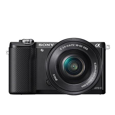 Sony A5000 Appareil photo numérique hybride 20,1 Mpix Zoom optique 3x Noir + Objectif 16-50 mm rétractable Noir