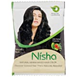 Nisha 10g Natural Color Hair Henna (pack of 5) with free Sahiba Hair dye Brush (Natural Black)