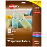 Avery Wraparound Water Bottle Labels for Laser & Inkjet Printers, 1.25