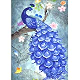 Adarl 5D DIY Full Diamond Painting Rhinestone 3D Peacock Pictures of Crystals Embroidery Kits Arts, Crafts & Sewing Cross Stitch D (Color: 3D-Peacock D, Tamaño: 11.8