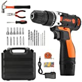 Jaer Cordless Power Drill and Home Tool Kit, Set with 3/8 Inches Keyless Chuck 28 Pcs Screwdriver Bits (Color: Orange, Tamaño: 28 PACK)