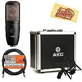 AKG P420 High-Performance Dual-Capsule True Condenser Microphone Bundle with XLR Cable and Austin Bazaar Polishing Cloth (Color: Bundle w/ XLR Cable, Tamaño: P420)