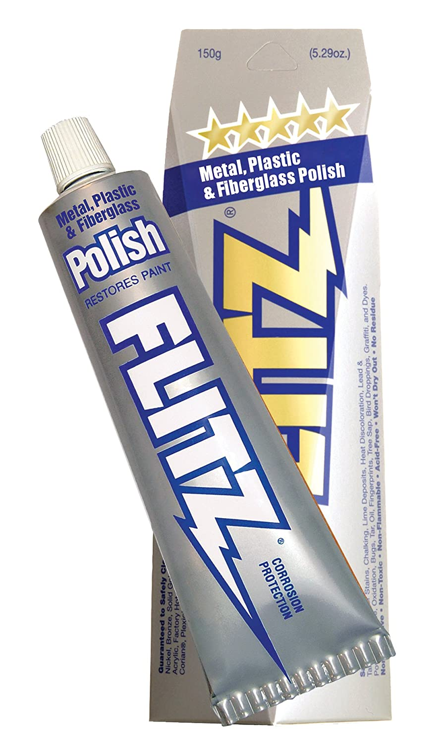 Flitz BU 03515 Blue Metal, Plastic and Fiberglass Polish Paste - 5.29 oz