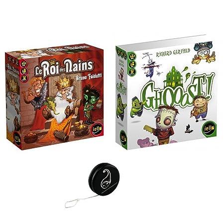Lot de 2 jeux IELLO :Le roi des nains + Ghooost+ 1 Yoyo Blumie