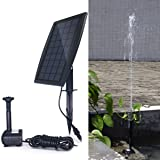COODIA Solar Fountain 2.5W Solar Panel Kit 200L/H Submersible Water Pump for Bird Bath Pond, Pool, Garden, Fish Tank, Aquarium, Solar Powered Outdoor and Indoor Use