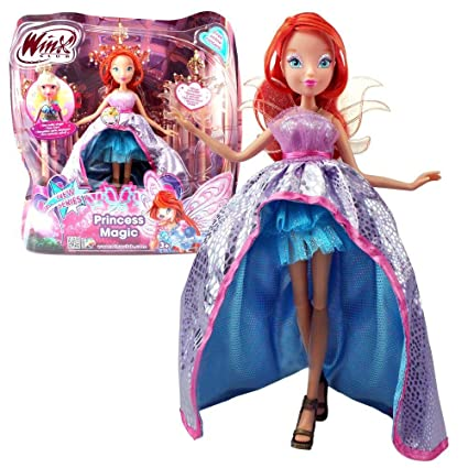 Winx Club - Princess Magic - Fée Bloom Poupée avec son, 28cm