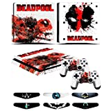 PS4 Slim Skins - Decals for PS4 Controller Playstation 4 Slim - Stickers Cover for PS4 Slim Controller Sony Playstation Four Slim Accessories with Dualshock 4 Two Controllers Skin - Deadpool (Color: Deadpool)