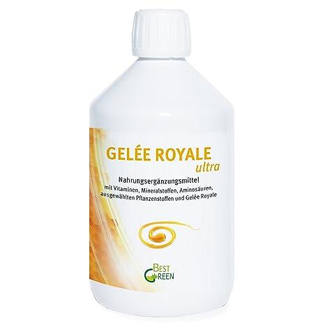 Gelée Royale ultra, 500 ml – tägliche Ergänzung mit Vitaminen, Mineralstoffen, Aminosäuren, ausgewählten Pflanzenstoffen und Gelée Royale