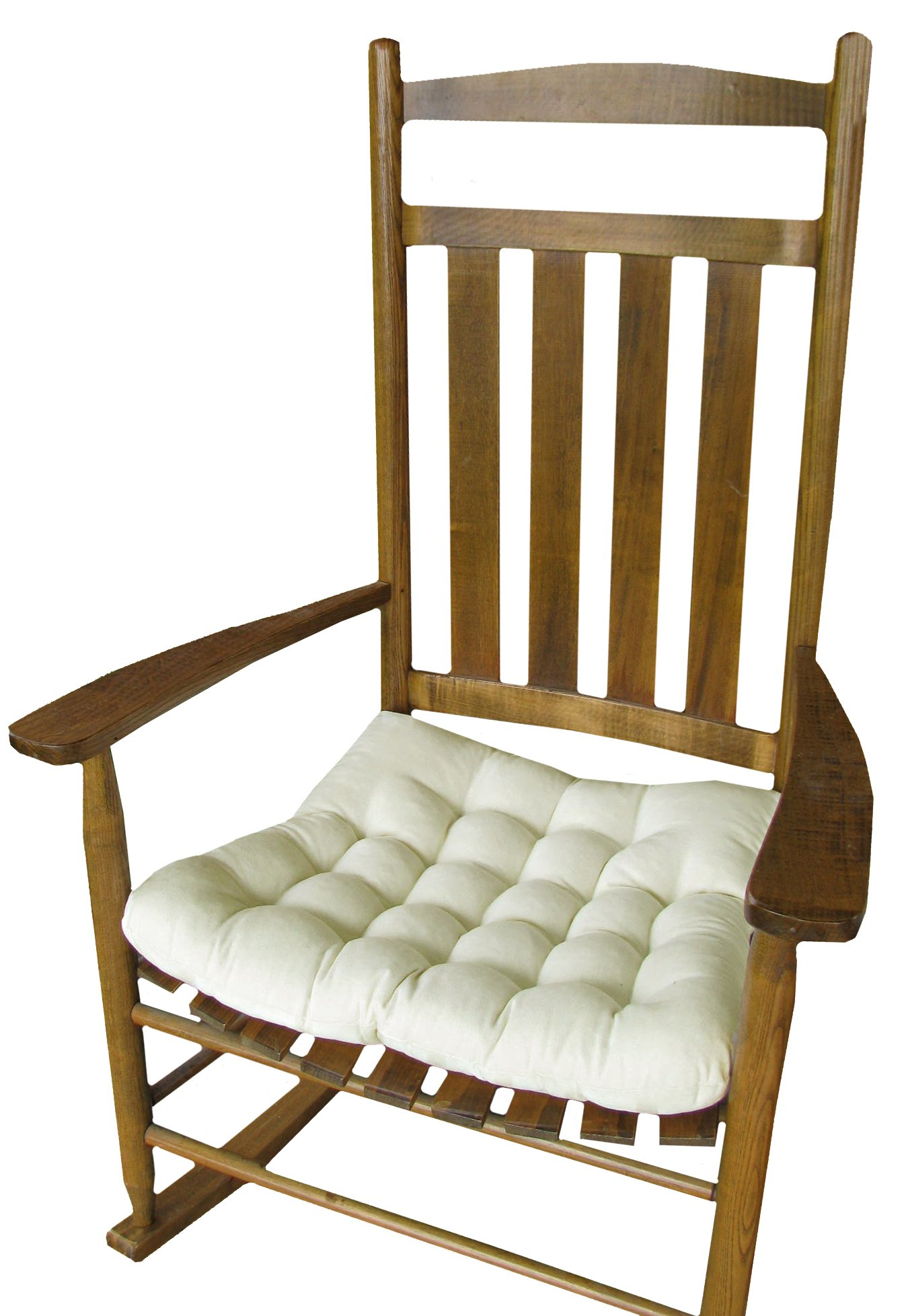 Rocking Chair Seat Cushion w Ties Natural Unbleached Cotton
