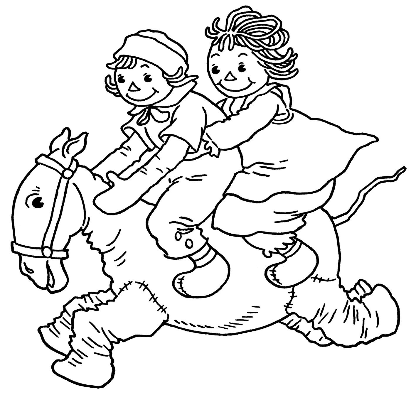 raggedy ann coloring pages - photo#10