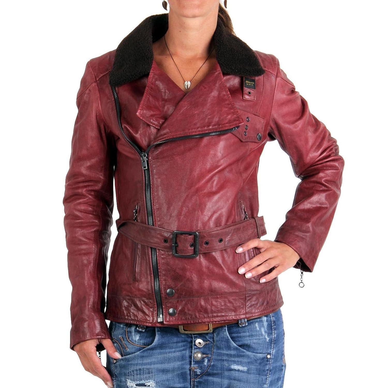 BLAUER USA Damen Winter Lederjacke Red 0749 günstig kaufen