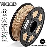 Real Wood 3D Print Filament,1.75 mm PLA Wood Filament,Dimensional Accuracy +/- 0.02 mm,1KG Spool(2.2lbs) - Enotepad Non-Block Filament (Wood) (Color: Wood)