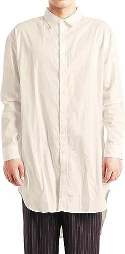 (バレッタ) Valletta メンズ ブロードシャツ ロング丈 長袖 ビッグ ワイド ロングシャツ ストリートモード [メンズ]