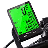 Cycle Computer, Bike Odometer Speedometer for Mountain Road Riding Bicycle Computers Waterproof Automatic Wake Up-Tracking Distance AVS Speed Time,Cycling Accessories(Wireless/Wired) (Color: wired computer)
