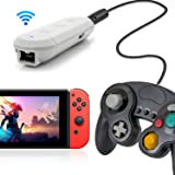 Wireless Adapter for Nintendo Switch, Compatible with Nintendo Switch and PC, Works With GameCube Controller, Classic Edition Controller, Wii Classic Controllers (Color: Gray)
