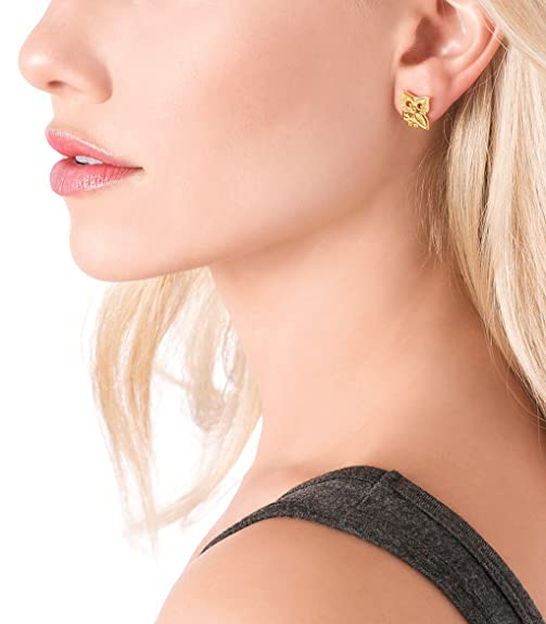 Gorjana Owl Stud Earrings Gold